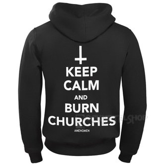 Herren Hoodie - KEEP CALM AND BURN CHURCHES - AMENOMEN, AMENOMEN