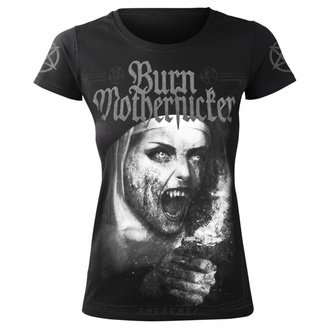 Damen T-Shirt Hardcore - BURN MOTHERFUCKER - AMENOMEN, AMENOMEN