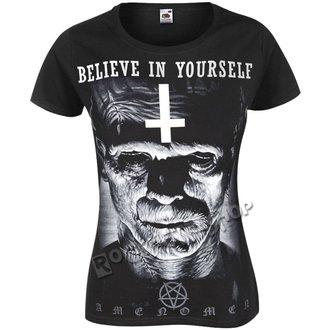 Damen T-Shirt Hardcore - FRANKENSTEIN - AMENOMEN, AMENOMEN