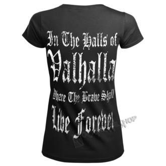 Damen T-Shirt - VIKING WARRIOR - VICTORY OR VALHALLA, VICTORY OR VALHALLA