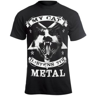 Herren T-Shirt Hardcore - MY CAT LISTENS TO METAL - AMENOMEN, AMENOMEN