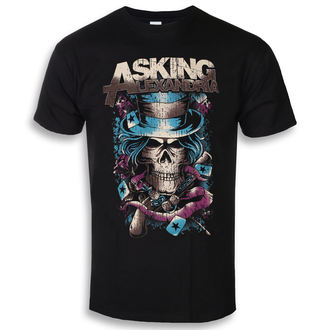 Herren T-Shirt Metal Asking Alexandria - Hat Skull - ROCK OFF, ROCK OFF, Asking Alexandria
