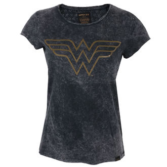 Damen T-Shirt Film Wonder Woman - BLACK -