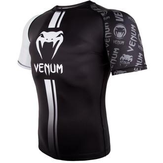 Herren Thermo T-Shirt Venum (Rashguard) Venum - Logos Rashguard - Schwarz/Weiß, VENUM