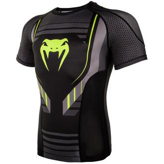 Herren Thermo T-Shirt Venum - Technical 2.0 Rashguard - Schwarz/Gelb, VENUM