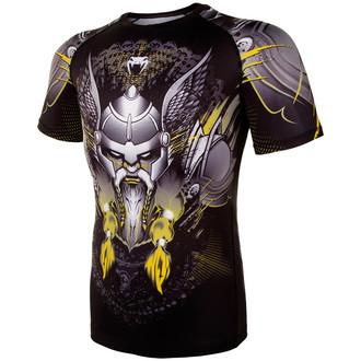 Herren Thermo T-Shirt Venum - Viking 2.0 Rashguard - Schwarz/Gelb, VENUM