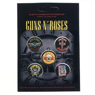 Ansteckbuttons Guns N' Roses - Bullet Logo - RAZAMATAZ, RAZAMATAZ, Guns N' Roses