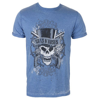 Herren T-Shirt Metal Guns N' Roses - Faded Skull - ROCK OFF, ROCK OFF, Guns N' Roses