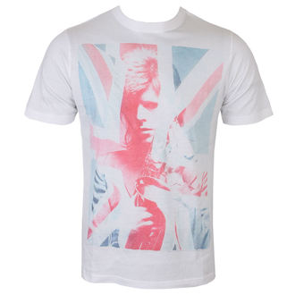 Herren T-Shirt Metal David Bowie - Union Jack and Sax Sublimation - Weiß - ROCK OFF, ROCK OFF, David Bowie