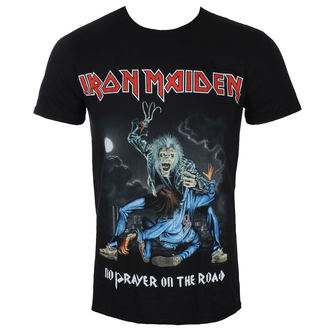 Herren T-Shirt Metal Iron Maiden - No Prayer On The Road - Schwarz - ROCK OFF, ROCK OFF, Iron Maiden