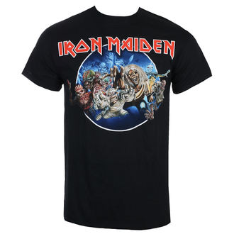 Herren T-Shirt Metal Iron Maiden - Wasted Years - Schwarz - ROCK OFF, ROCK OFF, Iron Maiden