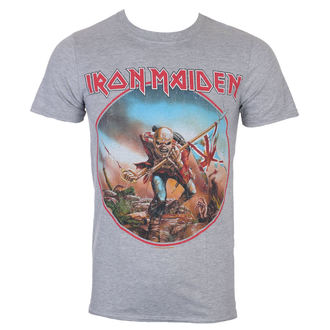 Herren T-Shirt Metal Iron Maiden - Trooper - Grau - ROCK OFF, ROCK OFF, Iron Maiden