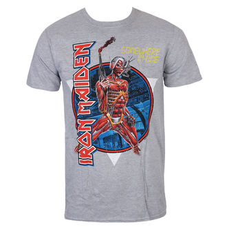 Herren T-Shirt Metal Iron Maiden - Somewhere In Time - Grau - ROCK OFF, ROCK OFF, Iron Maiden