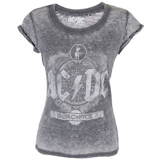 Damen T-Shirt Metal AC-DC - Black Ice - ROCK OFF, ROCK OFF, AC-DC