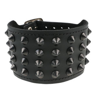 Armband Kegel Cones 4, BLACK & METAL