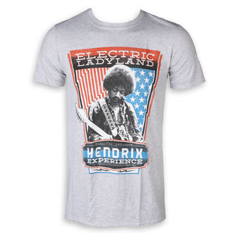 Herren T-Shirt Metal Jimi Hendrix - Electric - ROCK OFF, ROCK OFF, Jimi Hendrix