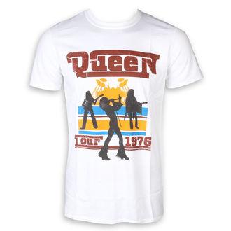 Herren T-Shirt Metal Queen - 76 Tour Silhouettes - ROCK OFF, ROCK OFF, Queen