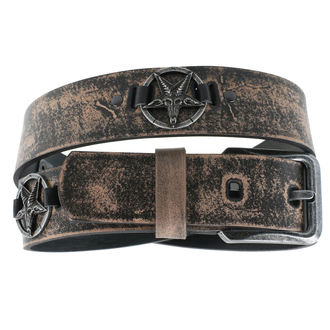 Gürtel Baphomet - brown, JM LEATHER