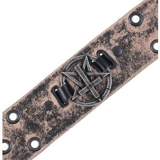 Gürtel Pentagramm Kreuz - brown