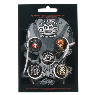 Ansteckbutton Set Five Finger Death Punch - RAZAMATAZ, RAZAMATAZ, Five Finger Death Punch