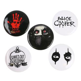 Ansteckbutton Set Alice Cooper - RAZAMATAZ, RAZAMATAZ, Alice Cooper