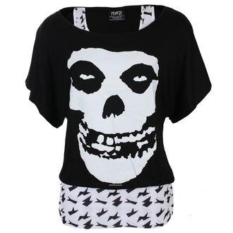 Damen Metal T-Shirt Misfits - SKULL - LIVE NATION, LIVE NATION, Misfits