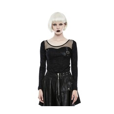 Damen T-Shirt Gothic Punk - Tech Noir - PUNK RAVE, PUNK RAVE