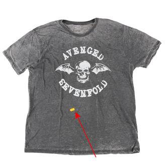 Herren T-Shirt Metal BESCHÄDIGT Avenged Sevenfold - Deathbat - ROCK OFF, ROCK OFF, Avenged Sevenfold