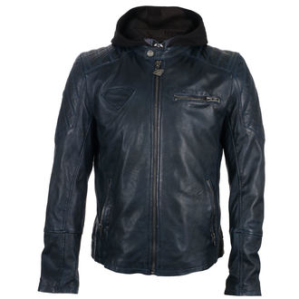 Herren Lederjacke Superman - DARK BLUE -
