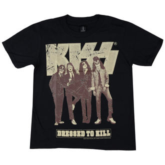 Kinder T-Shirt Metal Kiss - Dressed to Kill - LOW FREQUENCY, LOW FREQUENCY, Kiss