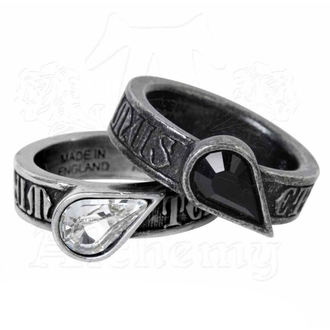 2 Ringe (Paar) ALCHEMY GOTHIC - Twin Heart Promise, ALCHEMY GOTHIC