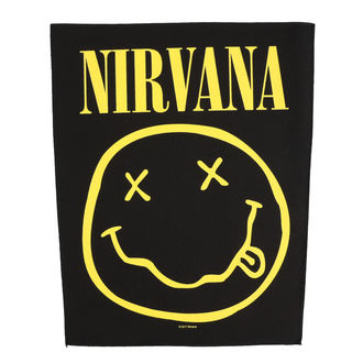 Patch groß Nirvana - Smiley - RAZAMATAZ, RAZAMATAZ, Nirvana