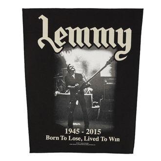 Aufnäher groß Motörhead - Lemmy - lived to win - RAZAMATAZ, RAZAMATAZ, Motörhead