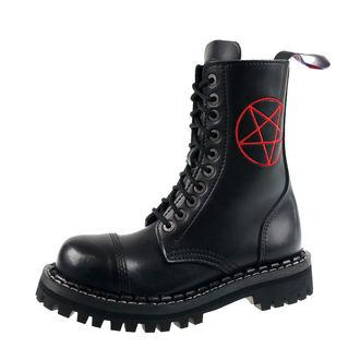 boty STEADY´S - 10 dírkové - Pentagram red