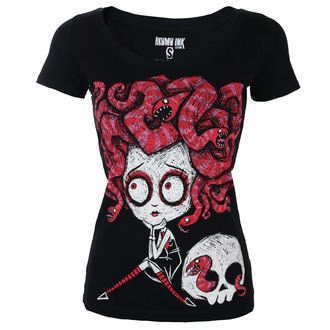Damen T-Shirt Hardcore - Medusa In Love Scoop - Akumu Ink, Akumu Ink