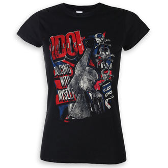 Damen T-Shirt Metal Billy Idol - Dancing With Myself - ROCK OFF, ROCK OFF, Billy Idol