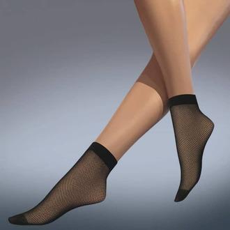 Strumpfsocken LEGWEAR - fishnet ankle highs - schwarz, LEGWEAR