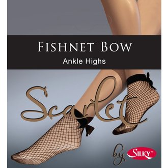 Schier Socken LEGWEAR - Fishnet bow ankle highs - Schwarz, LEGWEAR