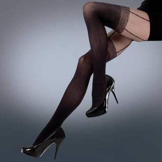 Strumpfhose LEGWEAR - mock lace suspender - schwarz, LEGWEAR