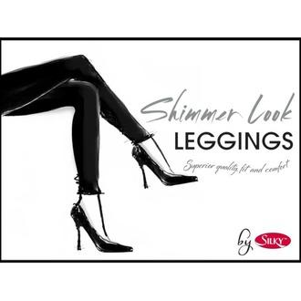 Damen Leggings LEGWEAR - Shimmer look - Schwarz, LEGWEAR